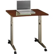 Bush Business Westfield 36W Adjustable Height Mobile Table, Hansen Cherry, Installed