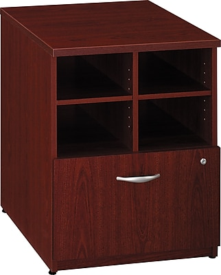 Bush Business Furniture Westfield 24W Storage Cabinet, Mahogany (WC36704)