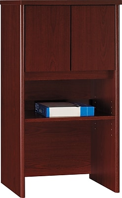 Bush Business Furniture Westfield 24W Hutch, Mahogany, Installed (WC36706FA)