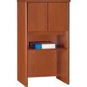 "Bush Westfield 24"" Storage Hutch, Autumn Cherry and Graphite Gray, Fully assembled"