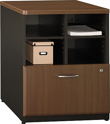 Bush Business Cubix 24W Piler Filer, Cappuccino Cherry/Hazelnut Brown