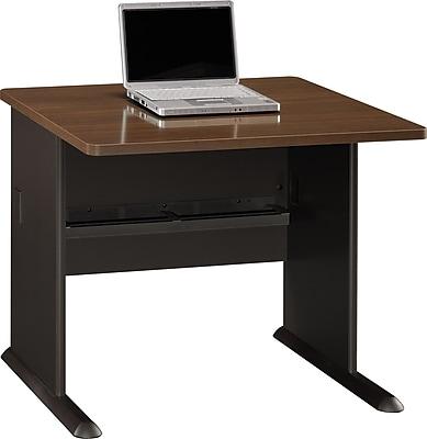 Bush Business Cubix 36W Desk, Cappuccino Cherry/Hazelnut Brown