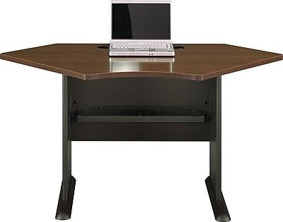 Bush Business Cubix 42W Corner Desk, Cappuccino Cherry/Hazelnut Brown