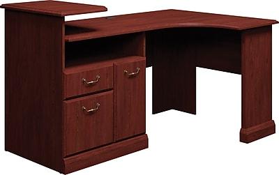 Bush Business Syndicate Expandable Corner Desk, Harvest Cherry