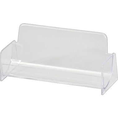 Staples® Business Card Holder, Clear Plastic