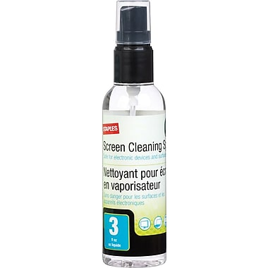Staples® Screen Cleaning Fluid, 3 oz