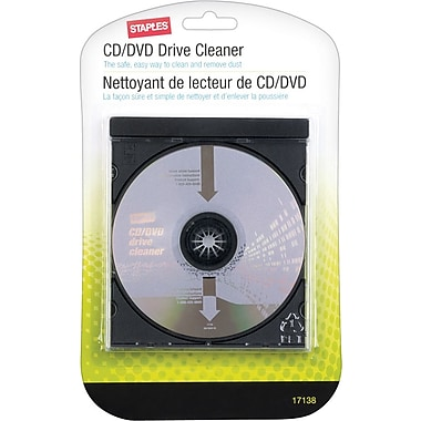 Staples® CD / DVD Drive Cleaner