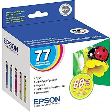 Epson® 77 (T077920) Colour Ink Cartridges, Combo Pack