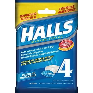 Halls Mentho-Lyptus Cough Tablets, Regular, 4/Pack