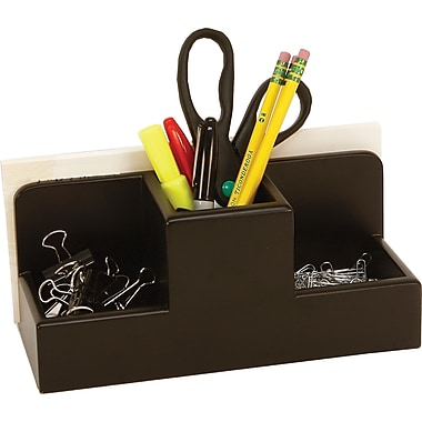 Staples Wood Desk Caddy, Black (MSC2-7901)