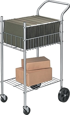 Fellowes® Economy Office Cart, Silver, 40 1/4