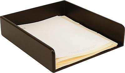 Staples MLT2-7901 Wood Desk Letter Tray, Black