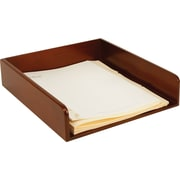 Staples MLT2-8002 Mahogany Wood Desk Letter Tray