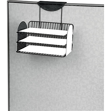 Fellowes Perf-Ect Cubicle Tray, Black, Set (22317)