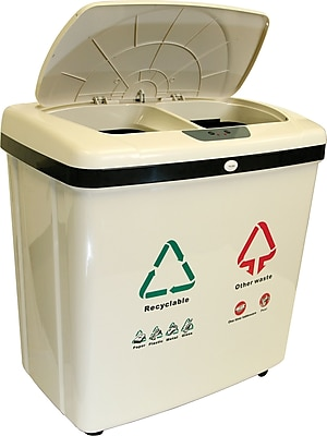 iTouchless Fully Automatic 2-Compartment Recycle Touchless Trash Can NX 16 gal. 806410