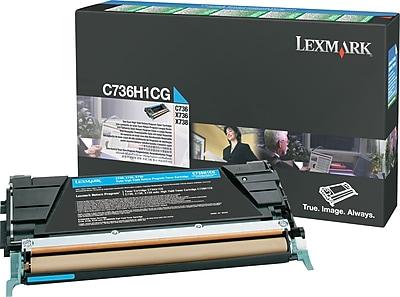 Lexmark Cyan Toner Cartridge (C736H1CG), High Yield, Return Program