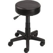 Staples Rolling Stool, Black