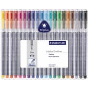 Staedtler Triplus® Fineliner 334 Pens, .3mm, Assorted Colors, 20/Pack
