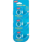 """Staples Invisible Tape Caddies, 3/4"""" x 50 yds, 3/Pack (86557-P3D)"""