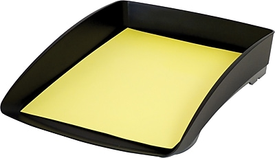 Storex Durable Plastic Stacking Letter Tray, 2.5