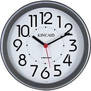 """Kincaid Round Wall and Cubicle Clock, Black, 8 1/2"""""""