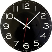 "Round 11.5"" Wall Clock, Black"