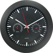 "TimeKeeper 12"" Round Wall Clock, Black"