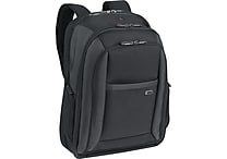 Solo Pro CheckFast Black Fabric Laptop Backpack (CLA703-4)