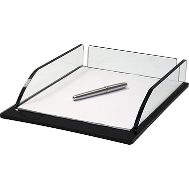 Storex® Onyx Glass Series Glass Letter Tray
