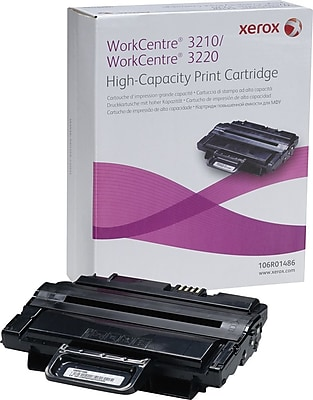 Xerox Black Toner Cartridge (106R01486), High Yield