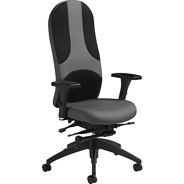 Global® ObusULTRAforme High-Back Multi-Tilt Chair, Black/Grey