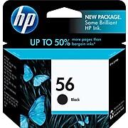 HP 56 Black Standard Yield Ink Cartridge (C6656AN#140)