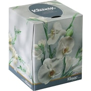KLEENEX Boutique Tissue, Floral Box, 2-Ply, White, 95 Tissues per Box, 36 Boxes/Ct