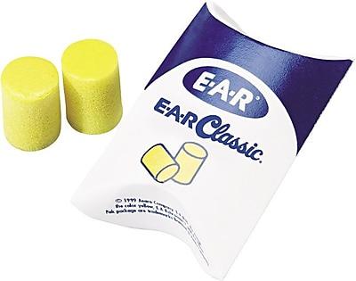 E-A-R® Classic™ Plus Ear Plugs in Pillow Pak™, 33 dB, 200 Pairs/Box