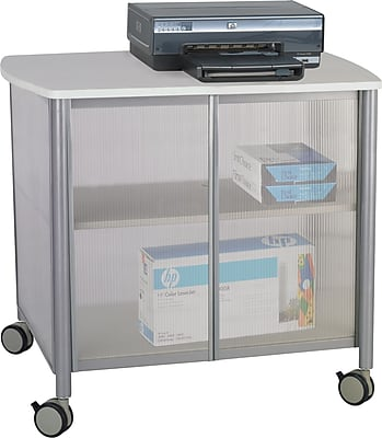 Safco® Impromptu™ Deluxe Machine Stand with Doors, Silver