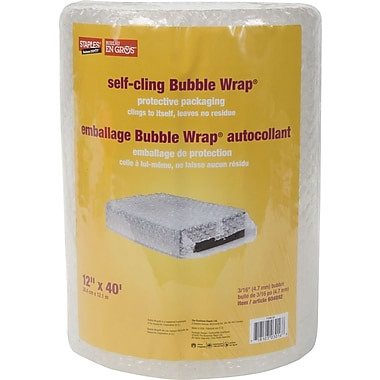Staples® Self-Cling Bubble Wrap*, 12