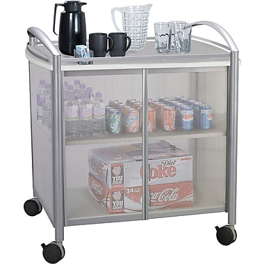 Safco ® Impromptu ® 2 Door Refreshment Cart, 1 Shelf, 36 1/2