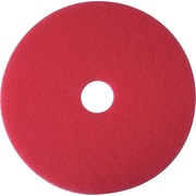 "3M Red Buffer Floor Pads 5100, 17"", Red (08392)"