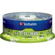 Verbatim® - CD-RW 2 x à 4 x 700 Mo/80 min, paq. cyl./25