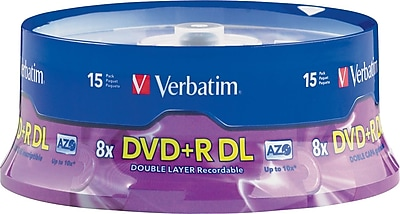 Verbatim, 15/Pack AZO DVD+R DL 8X, Spindle