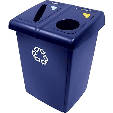 RubbermaidMD – Poste de recyclage 1/2 Glutton
