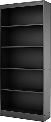 South Shore™ Work ID 5-Shelf Bookcase, Black