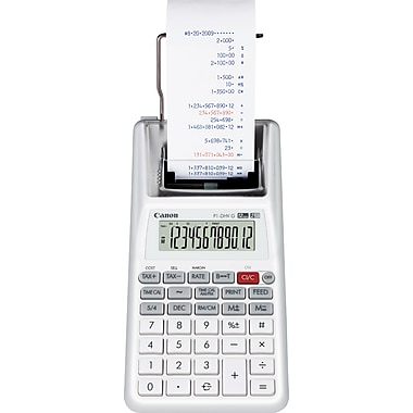 Canon® P1DHV Palm Printing Calculator, 12-Digit LCD Display