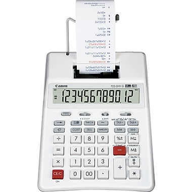 Canon® 3831B001 Palm Printing Calculator, LCD Display
