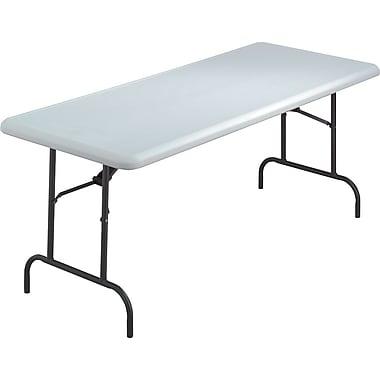 Iceberg 6' Utility-Grade Resin Folding Banquet Table, Platinum Granite, 30