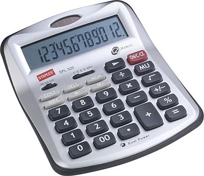 Staples® SPL-320-CC 12-Digit Desktop Calculator
