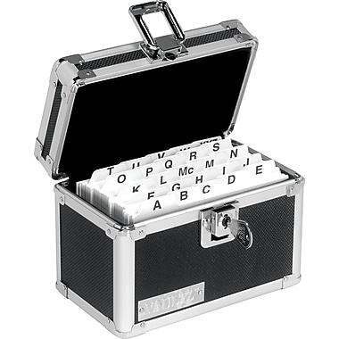 Vaultz - Boîte verrouillable pour fiches, 3 po x 5 po, noire