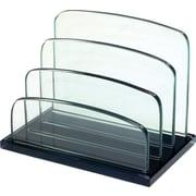 Storex® - Classeur-trieur de bureau en verre, Onyx