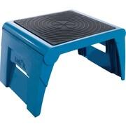 """Task It 1-Up™ Folding Step Stool, Blue, 9 3/4""""H x 14""""W x 11 1/4""""D"""