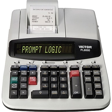 Victor® PL8000 Heavy-Duty Commercial Thermal Printing Calculator, 14-Digit